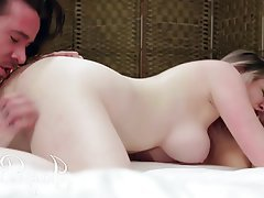 Babe, Big Boobs, Cunnilingus, Threesome