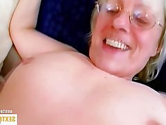 Old and Young, Amateur, Blowjob, Granny