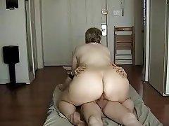 Amatör, Büyük güzel kadın, Sert seks, POV