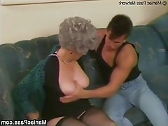 Granny, Hardcore, Mature, Stockings