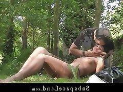BDSM, Blowjob, Knechtschaft, Brünette