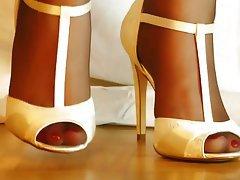 Nahes Hohes, Fuß Fetisch, Unterwäsche, Strumpfhose