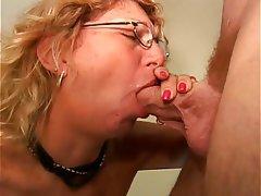 Výstřik, Sperma v obličeji, Zralé ženy, Blondýna