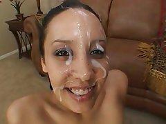 Brunette, Cumshot, Facial