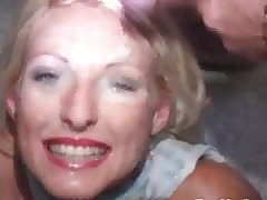 Blonde, Bukkake, Cumshot, Facial