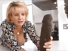 Babe, Dildo, Interracial, MILF