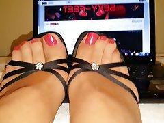 Fuß Fetisch, Hoher Absatz, Strumpfhose