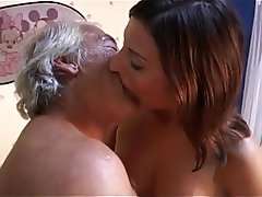 Blowjob, Old and Young, Small Tits, Skinny