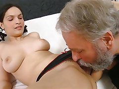 Brunette, Old and Young, Threesome, Big Butts