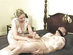 BDSM, Blondine, Blowjob, CFNM