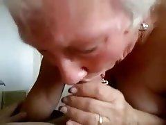 Blowjob, Granny, Handjob, Mature