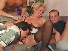 Doppel Penetration, Deutsch, Gruppensex, Alt Und Jung