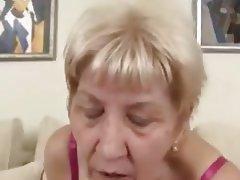 Granny, High Heels, Saggy Tits