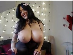 Grosse Boobs, Grosse Brustwarzen, Dildo, Grosse Tits