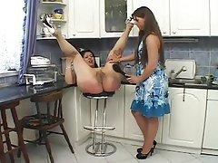 Big Butts, Spanking, Kitchen
