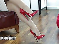 Babe, Brunette, Foot Fetish, High Heels