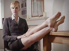 Blondine, Femdom, Fuß Fetisch, Herrin