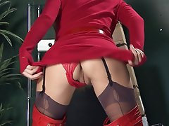 Masturbation, Spanish, Stockings