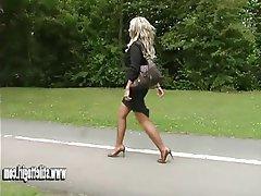 Blonde, Foot Fetish, High Heels, MILF