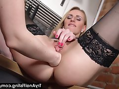 Anale, Bionde, Fisting, Sesso in cucina