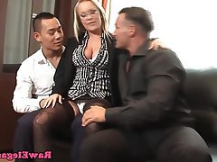 Double Penetration, Pornstar, Threesome, Office