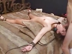 Amateur, BDSM, Bondage, Corrida en la boca