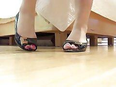 Footjob, Brunette, Foot Fetish