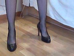 Fuß Fetisch, Hoher Absatz, Strümpfe