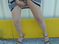 French, Stockings, Dildo