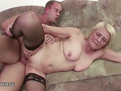 Facial, Granny, Hardcore, Stockings
