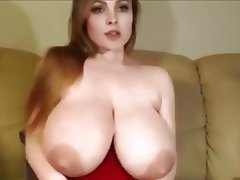 Big Boobs, Dildo, Saggy Tits, Webcam