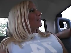 POV, Blonde, Car