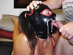 Amateur, BDSM, Cum in mouth, Latex