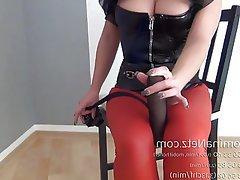 BDSM, Grosse Boobs, Strumpfhose, Femdom