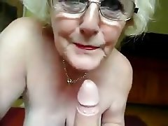 Blowjob, Cum in mouth, Granny, Masturbation