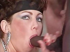 Cum in mouth, Gangbang, MILF, Mature