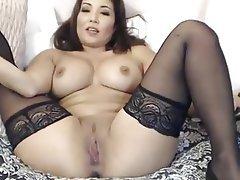 Webcam, Asian, Masturbation, Big Boobs