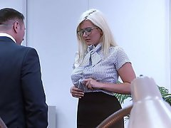 Blonde, Secretary, Bondage
