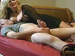 Grosse Boobs, Blowjob, Handarbeit, MILF