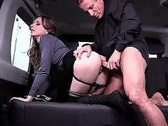 Czech, Doggystyle, Doggystyle, Doggystyle, Upskirt, Car