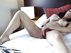 Amateur, Brunette, Masturbation, Big Boobs