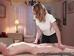 MILF, Old and Young, Massage, Spanking