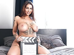 Babe, Casting, Tattoo, Big Tits