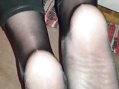 Cumshot, Mature, Foot Fetish, Pantyhose