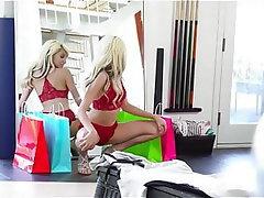 Blonde, Stockings, Voyeur, Lingerie