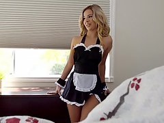 Blonde, Maid, Fucking, Boobs