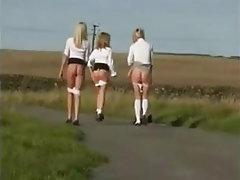 Blonde, Brunette, Teen, Stockings