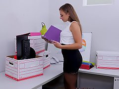 Office, Teen, Stockings, Lingerie