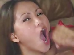 Asian, Handjob, Facial, Babe