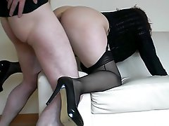 Cumshot, Amateur, Stockings